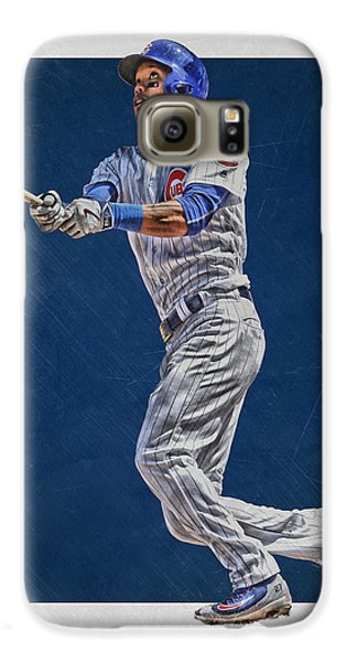 Addison Russell Chicago Cubs Art Galaxy S6 Case by Joe Hamilton