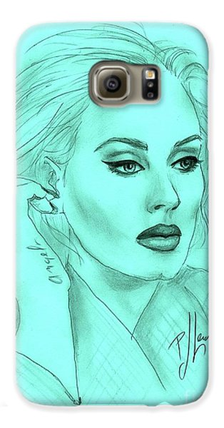 Adele Galaxy S6 Case by P J Lewis