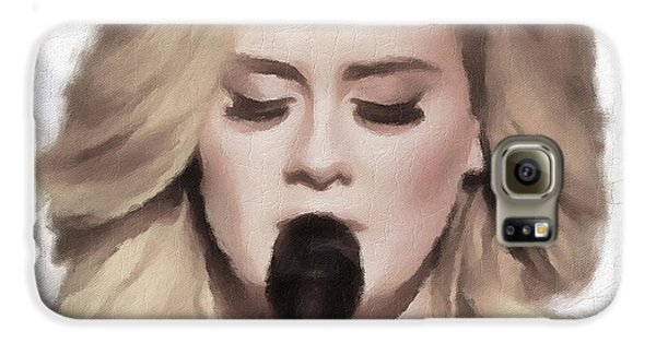 Adele Portrait Hello Galaxy S6 Case by Yury Malkov