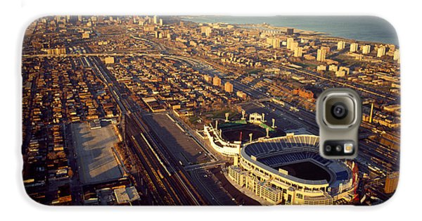 Aerial View Of A City, Old Comiskey Galaxy S6 Case by Panoramic Images