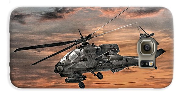 Ah-64 Apache Attack Helicopter Galaxy S6 Case by Randy Steele