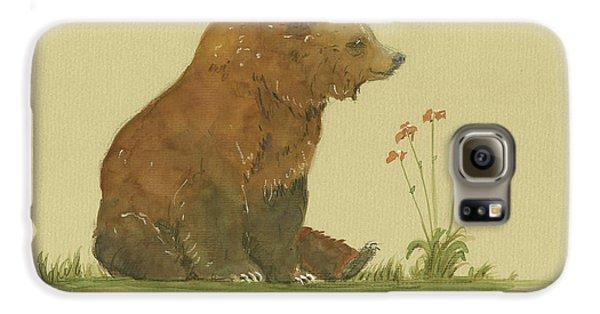 Alaskan Grizzly Bear Galaxy S6 Case by Juan Bosco