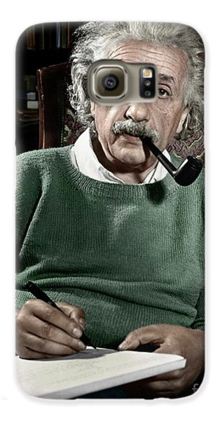 Albert Einstein Galaxy S6 Case by Granger