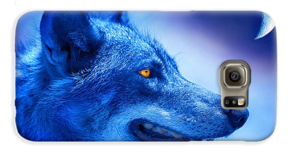 Alpha Wolf Galaxy S6 Case by Mal Bray