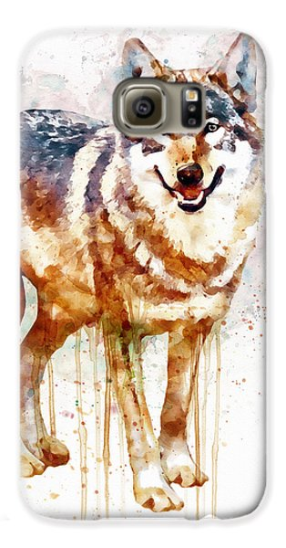 Alpha Wolf Galaxy S6 Case by Marian Voicu