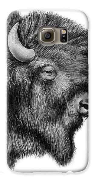 American Bison Galaxy S6 Case by Greg Joens