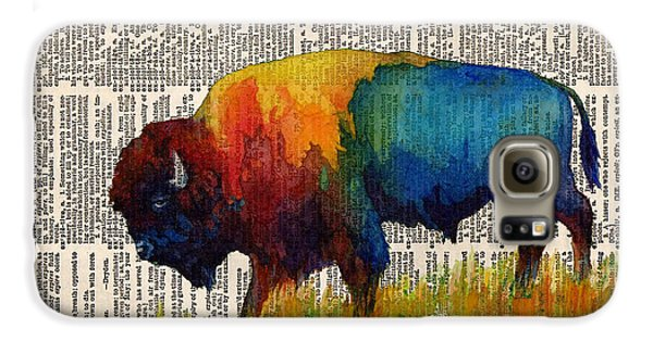 American Buffalo IIi On Vintage Dictionary Galaxy S6 Case by Hailey E Herrera