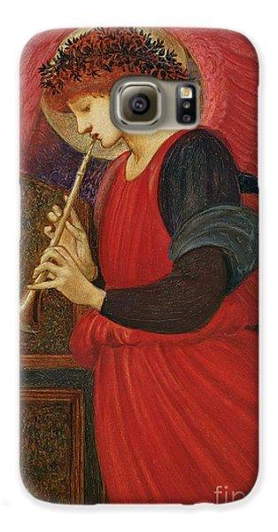 An Angel Playing A Flageolet Galaxy S6 Case by Sir Edward Burne-Jones