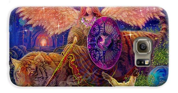 Angel Tarot Card Angel Fairy Dream Galaxy S6 Case by Steve Roberts