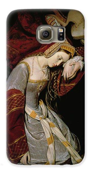 Anne Boleyn In The Tower Galaxy S6 Case by Edouard Cibot