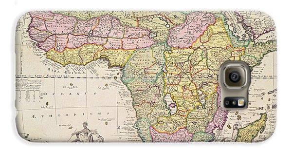 Antique Map Of Africa Galaxy S6 Case by Pieter Schenk