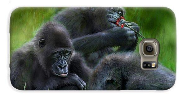 Ape Moods Galaxy S6 Case by Carol Cavalaris