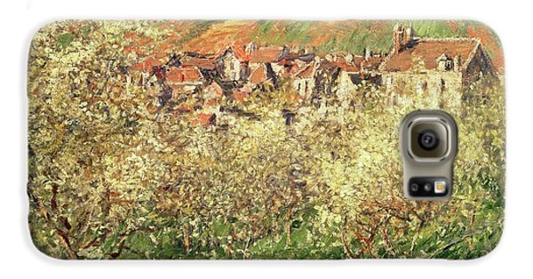 Apple Trees In Blossom Galaxy S6 Case by Claude Monet