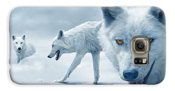 Arctic Wolves Galaxy S6 Case by Mal Bray
