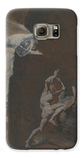 Ariadne Watching The Struggle Of Theseus With The Minotaur Galaxy S6 Case by Henry Fuseli