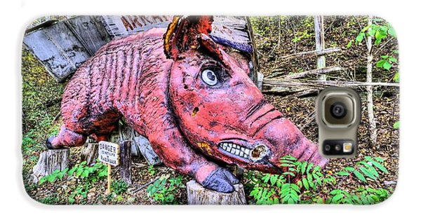 Arkansas Razorbacks Galaxy S6 Case by JC Findley