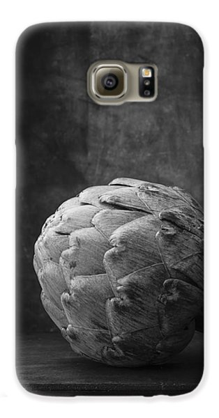 Artichoke Black And White Still Life Galaxy S6 Case by Edward Fielding