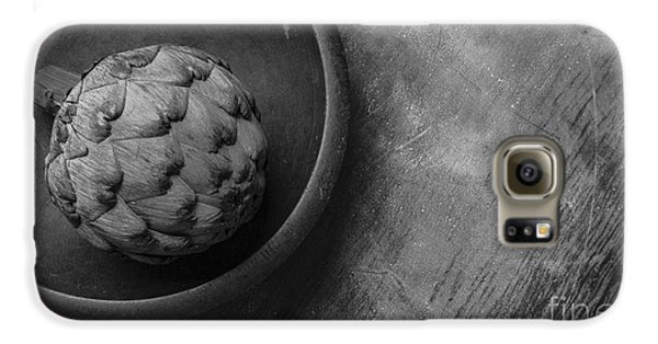 Artichoke Black And White Still Life Three Galaxy S6 Case by Edward Fielding