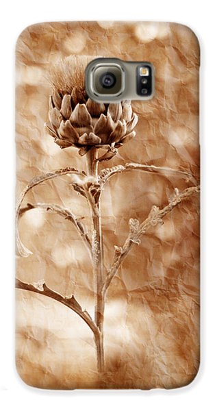 Artichoke Bloom Galaxy S6 Case by La Rae  Roberts