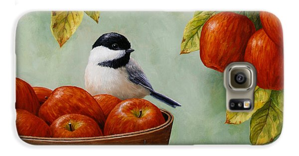 Apple Chickadee Greeting Card 1 Galaxy S6 Case by Crista Forest