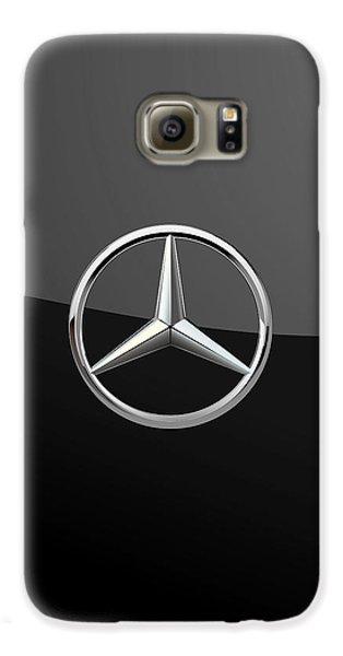 Mercedes-benz - 3d Badge On Black Galaxy S6 Case by Serge Averbukh