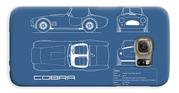 Ac Cobra Blueprint Galaxy S6 Case by Mark Rogan