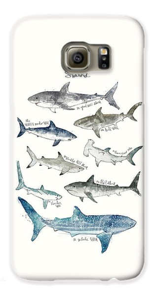 Sharks Galaxy S6 Case by Amy Hamilton