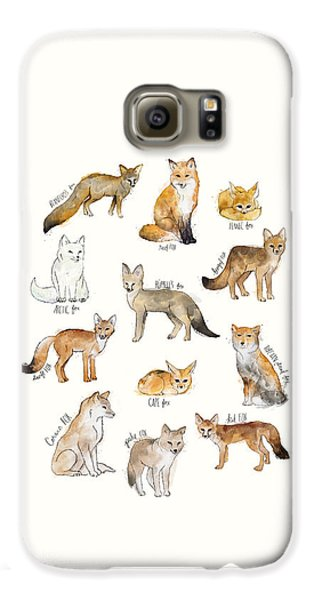 Foxes Galaxy S6 Case by Amy Hamilton