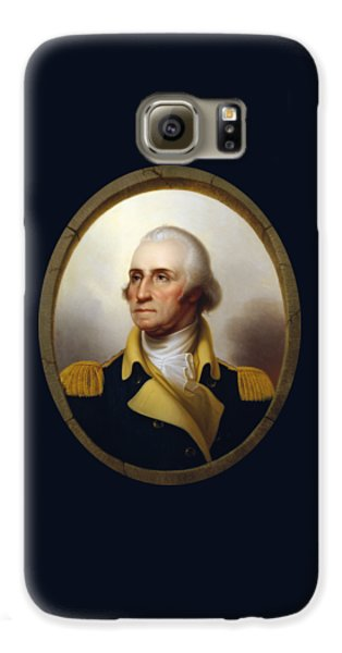 General Washington - Porthole Portrait  Galaxy S6 Case by War Is Hell Store
