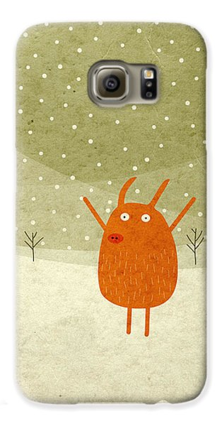 Pigs And Bunnies Galaxy S6 Case by Fuzzorama