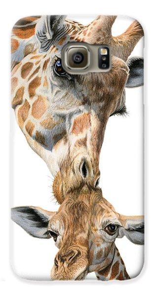 Mother And Baby Giraffe Galaxy S6 Case by Sarah Batalka
