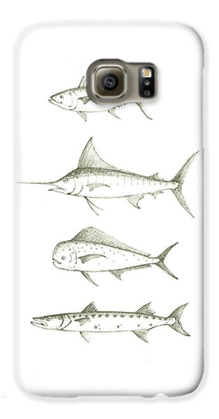 Saltwater Gamefishes Galaxy S6 Case by Juan Bosco