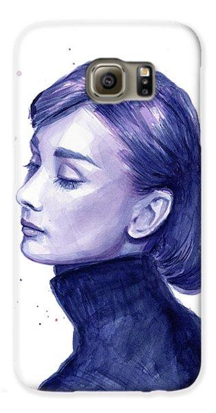 Audrey Hepburn Portrait Galaxy S6 Case by Olga Shvartsur