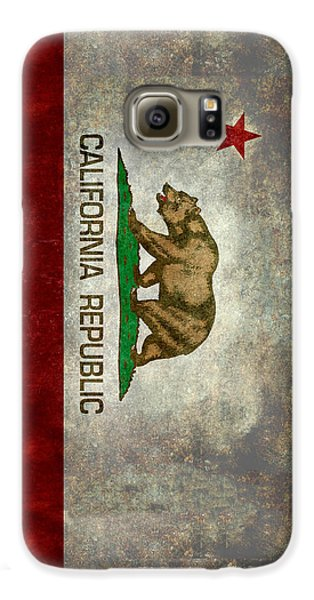 California Republic State Flag Retro Style Galaxy S6 Case by Bruce Stanfield
