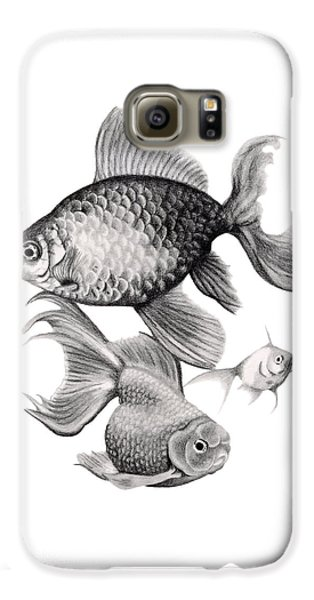 Goldfish Galaxy S6 Case by Sarah Batalka