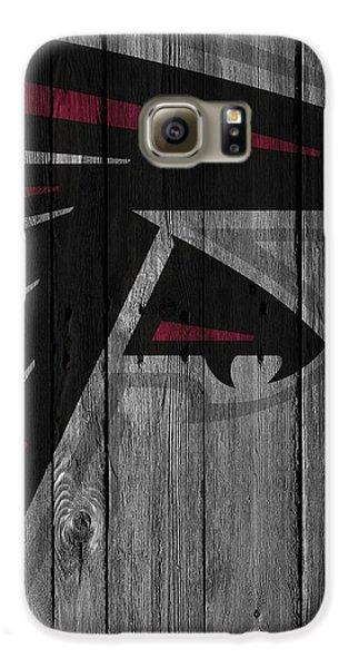 Atlanta Falcons Wood Fence Galaxy S6 Case by Joe Hamilton