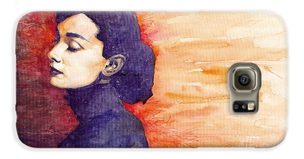 Audrey Hepburn 1 Galaxy S6 Case by Yuriy  Shevchuk