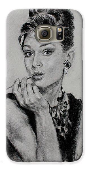 Audrey Hepburn Galaxy S6 Case by Ylli Haruni