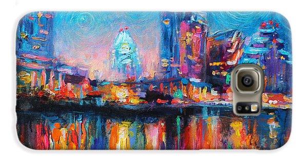 Austin Art Impressionistic Skyline Painting #2 Samsung Galaxy Case by Svetlana Novikova