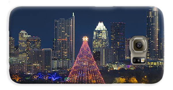 Austin Panorama Of The Trail Of Lights And Skyline Galaxy S6 Case by Rob Greebon