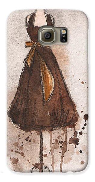 Autumn's Gold Vintage Dress Galaxy S6 Case by Lauren Maurer