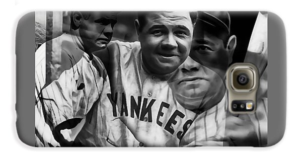 Babe Ruth Collection Galaxy S6 Case by Marvin Blaine