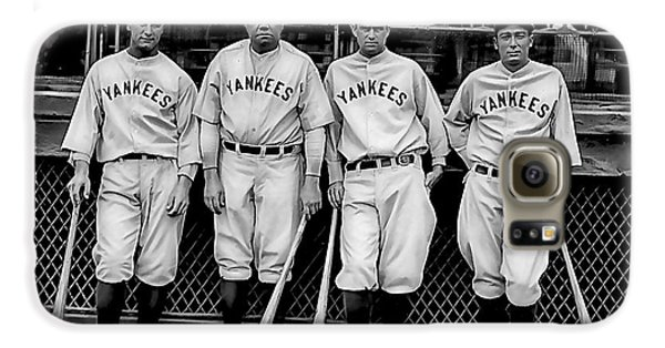 Babe Ruth Lou Gehrig And Joe Dimaggio Galaxy S6 Case by Marvin Blaine