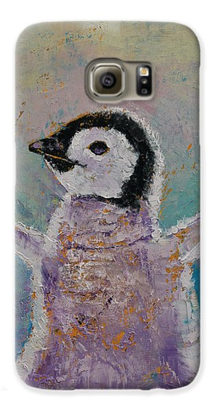 Baby Penguin Galaxy S6 Case by Michael Creese