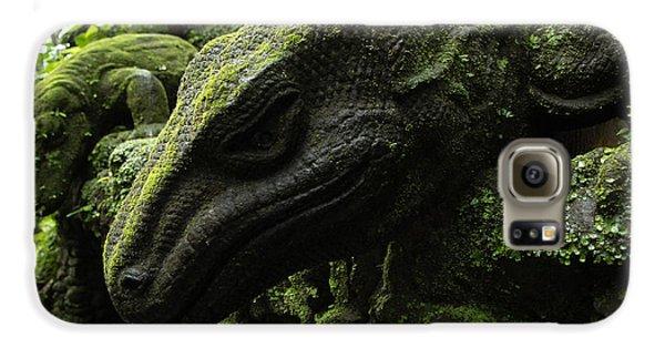 Bali Indonesia Lizard Sculpture Galaxy S6 Case by Bob Christopher