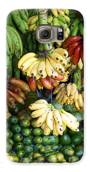 Banana Display. Galaxy S6 Case by Jane Rix
