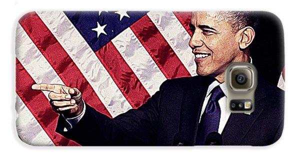 Barack Obama Galaxy S6 Case by Iguanna Espinosa