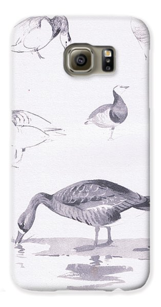 Barnacle And White Fronted Geese Galaxy S6 Case by Archibald Thorburn