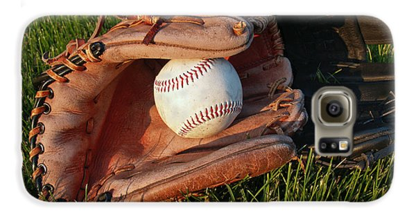 Baseball Gloves After The Game Galaxy S6 Case by Anna Lisa Yoder