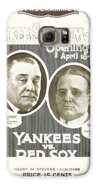 Baseball Program, 1923 Galaxy S6 Case by Granger